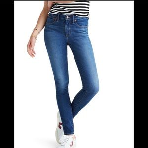 Madewell 9 Inch High Rise  Skinny Blue Jeans 30
